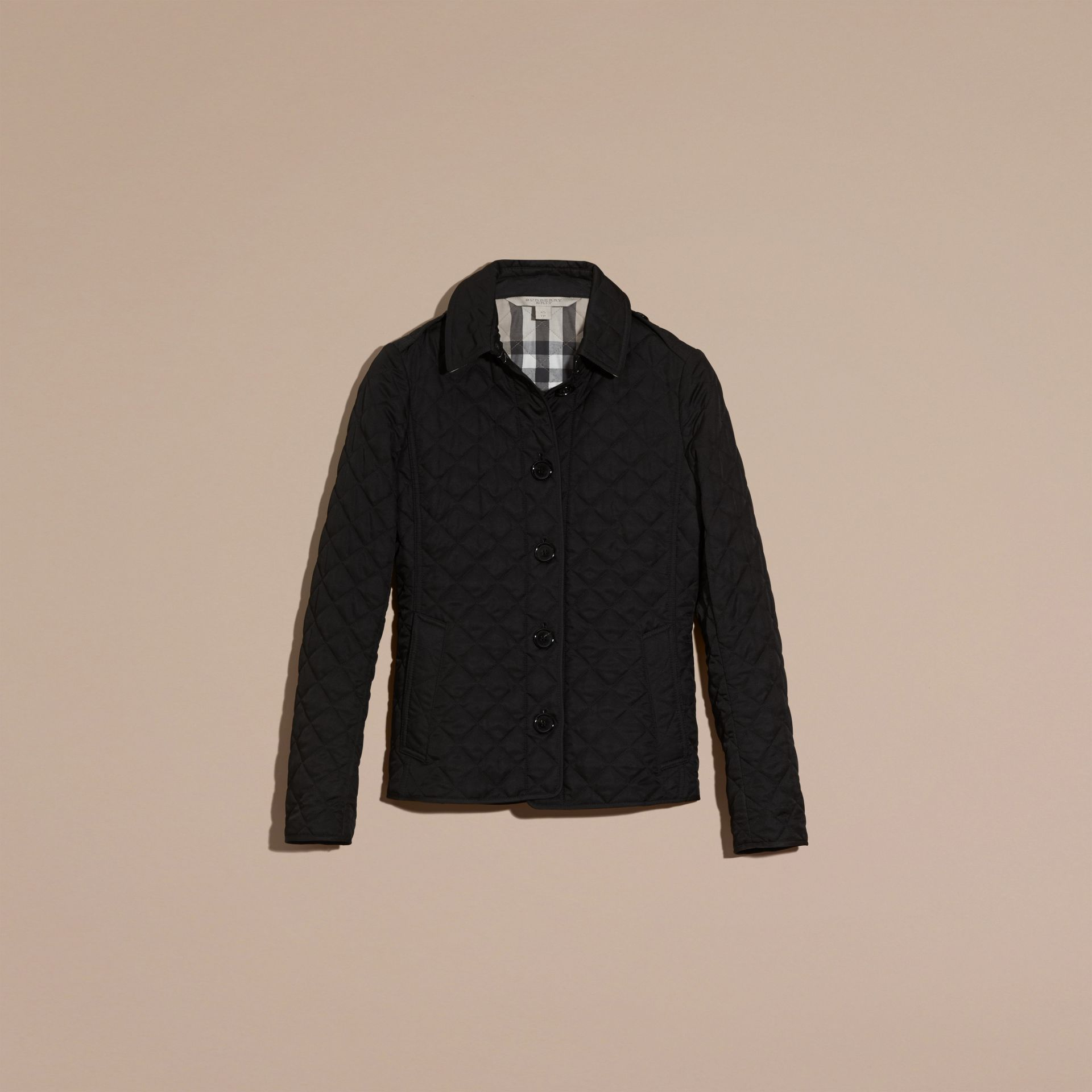 Diamond Quilted Jacket in Black - gallery image 4