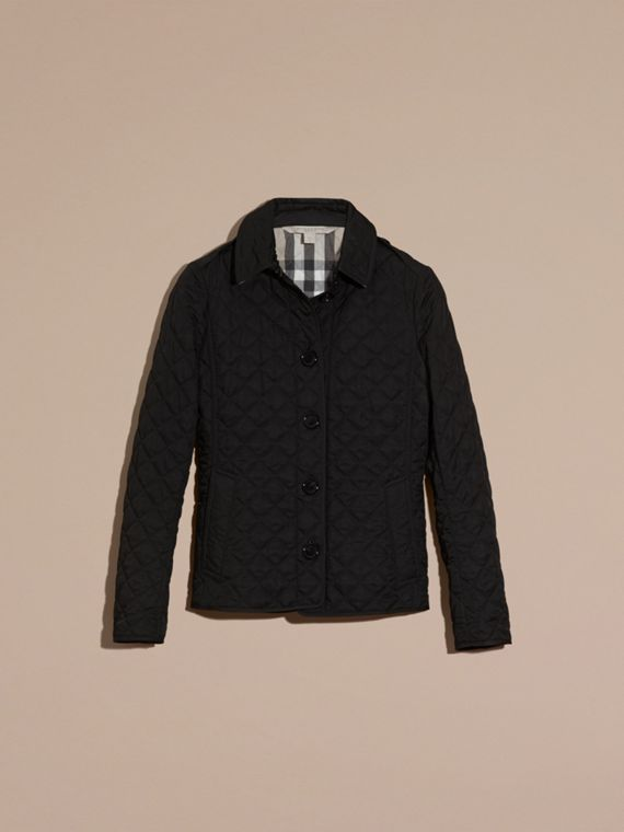 Diamond Quilted Jacket in Black - cell image 3
