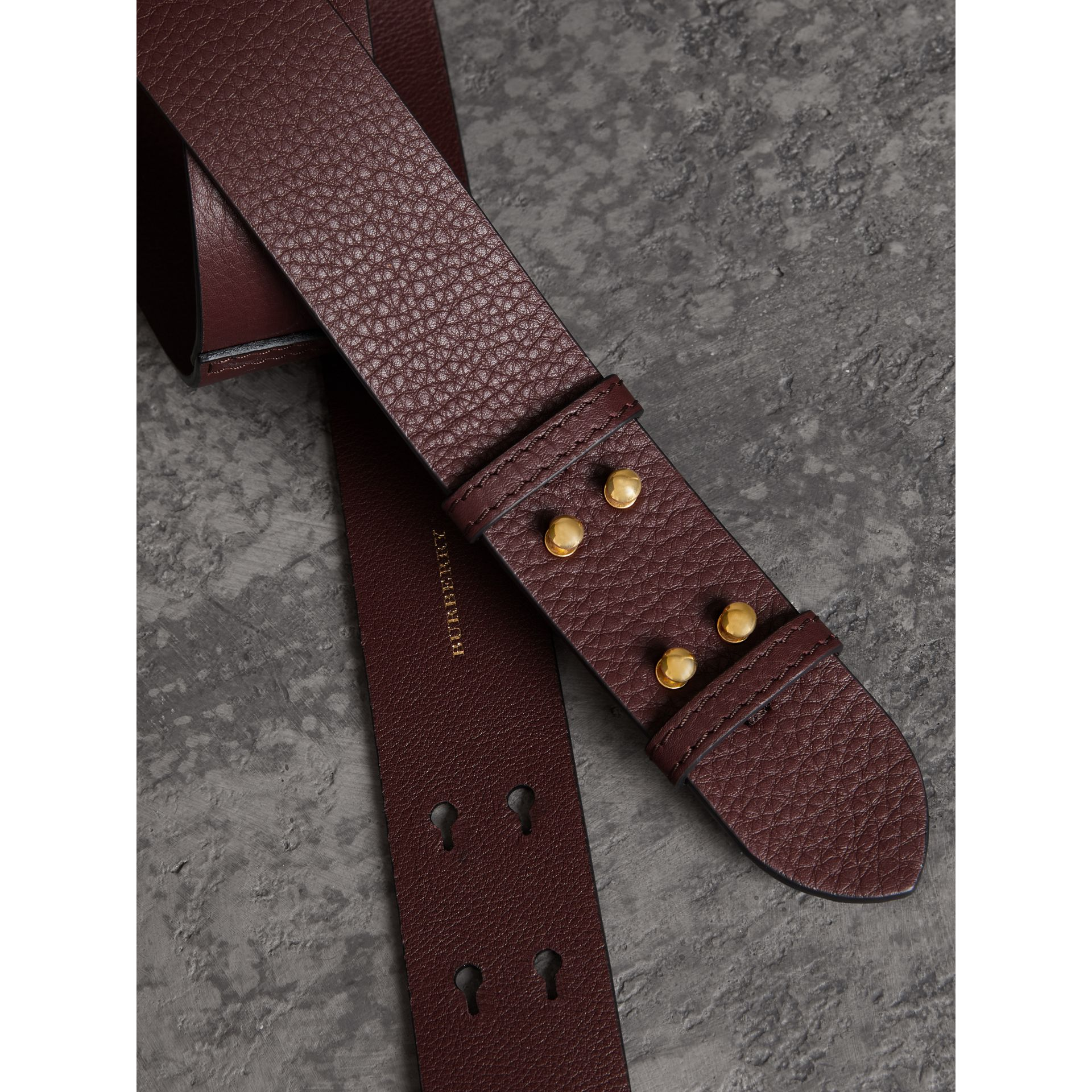 The Medium Belt Bag Grainy Leather Belt in Deep Claret - Women | Burberry United Kingdom - gallery image 1