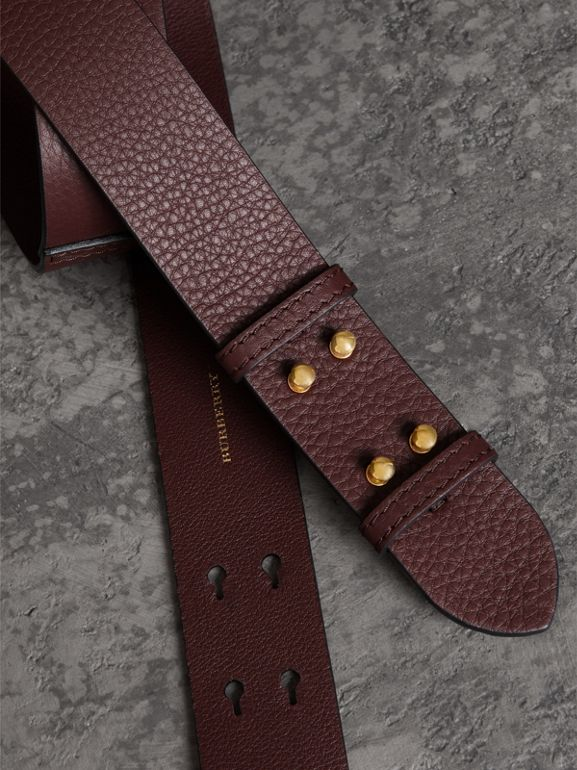 The Medium Belt Bag Grainy Leather Belt in Deep Claret - Women | Burberry United Kingdom - cell image 1