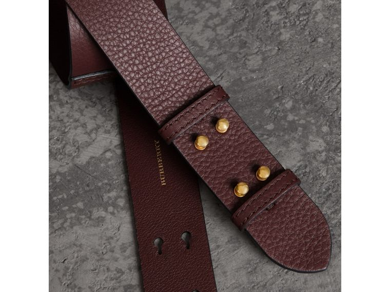 The Medium Belt Bag Grainy Leather Belt in Deep Claret - Women | Burberry Singapore - cell image 1