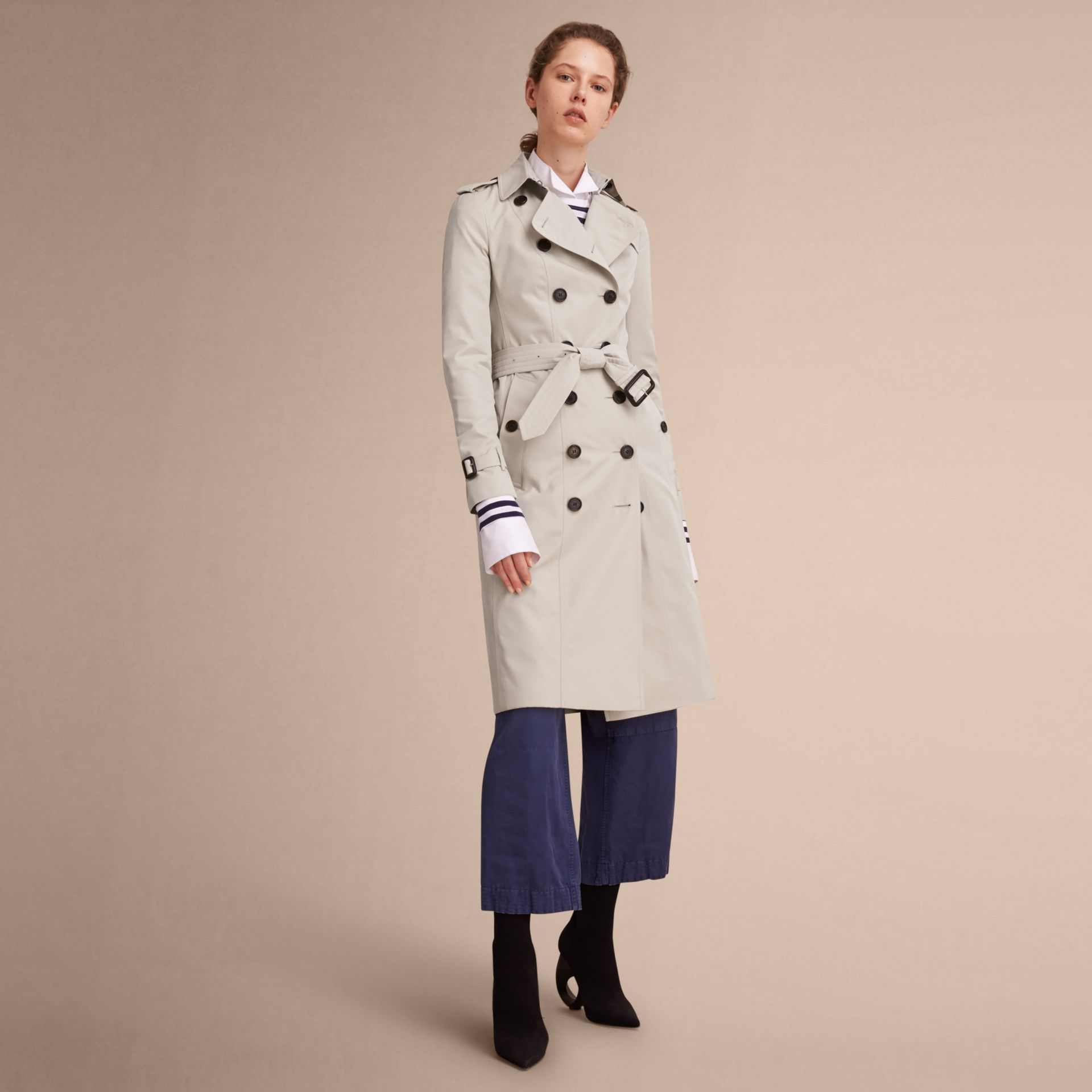 The Sandringham – Extra-long Heritage Trench Coat in Stone - gallery image 1