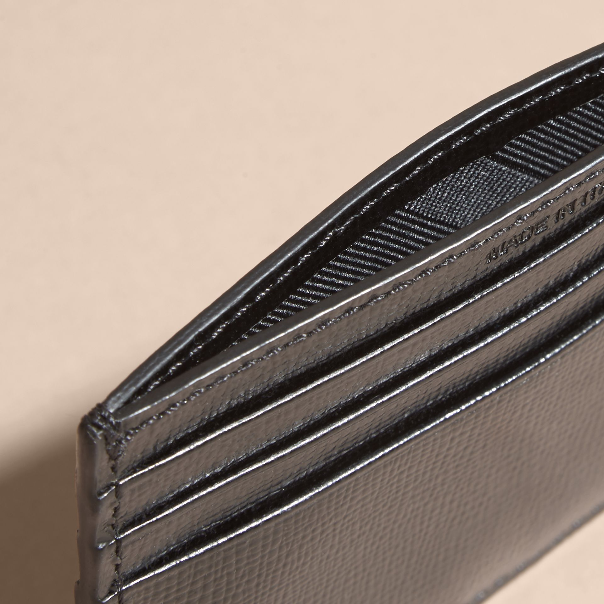 London Leather Card Case in Black | Burberry Singapore - gallery image 6