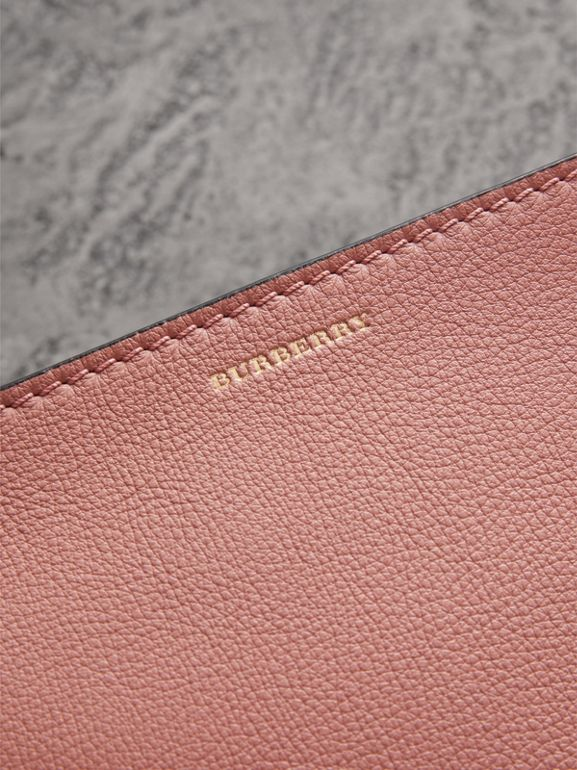 Medium Tri-tone Leather Clutch in Dusty Rose/limestone | Burberry - cell image 1