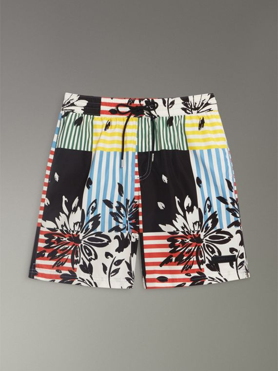 Drawcord Swim Shorts in Steel Blue - Men | Burberry - cell image 3