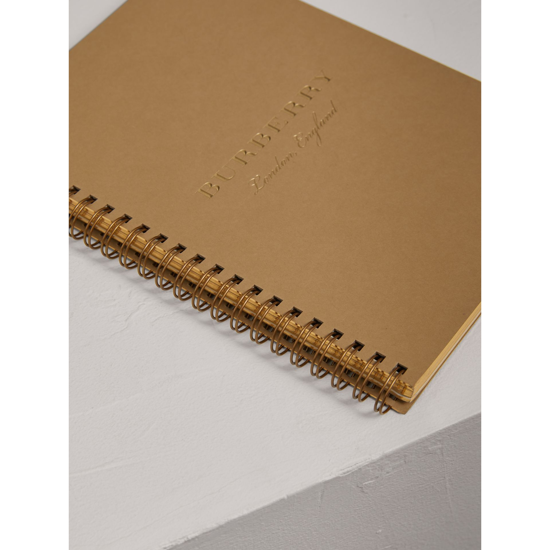A5 Notebook Refill in Honey | Burberry United Kingdom - gallery image 1