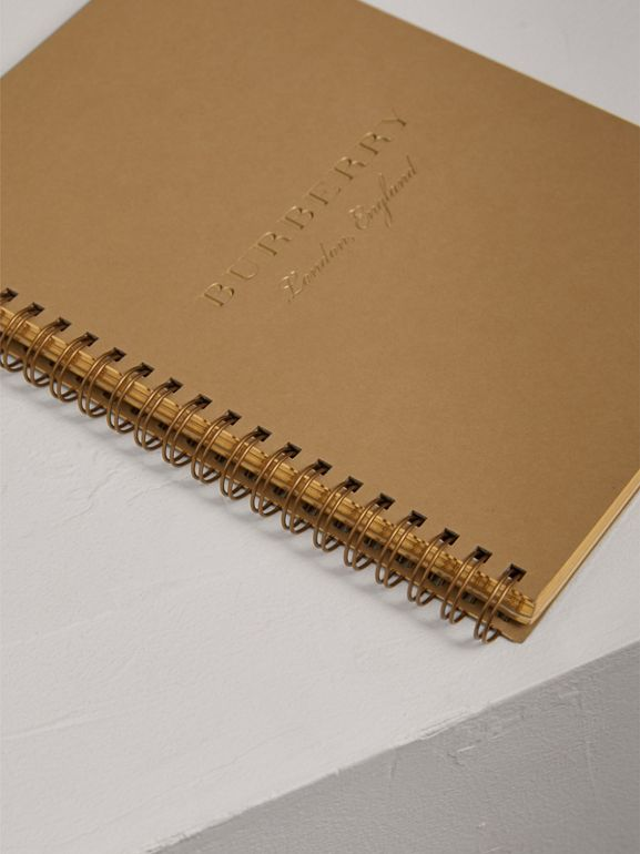 A5 Notebook Refill in Honey | Burberry Singapore - cell image 1