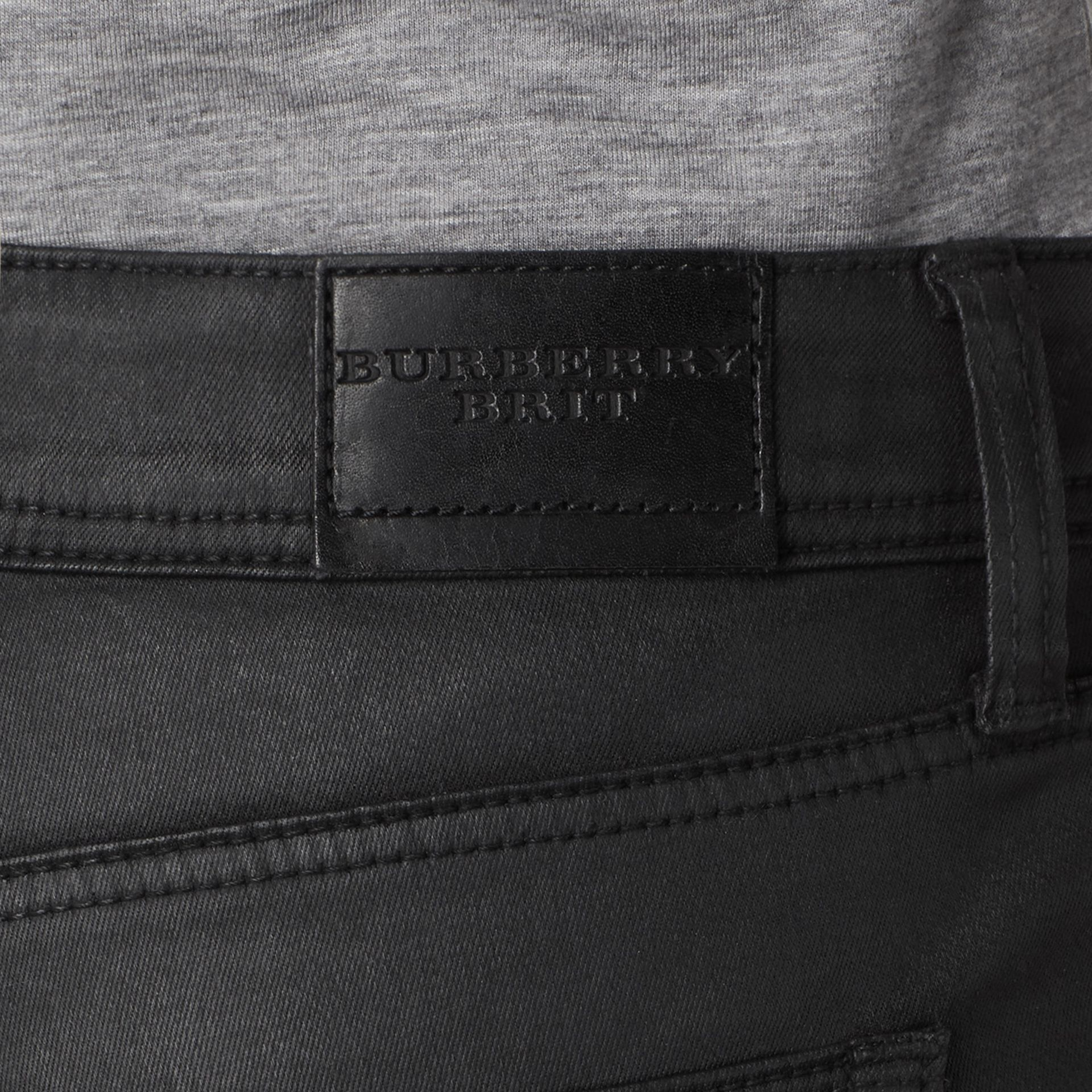 Skinny Fit Low-rise Wax Coated Jeans - Women | Burberry - gallery image 2