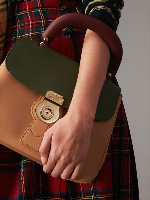 The Medium DK88 Top Handle Bag in Pale Clementine/moss Green - Women | Burberry - cell image 2