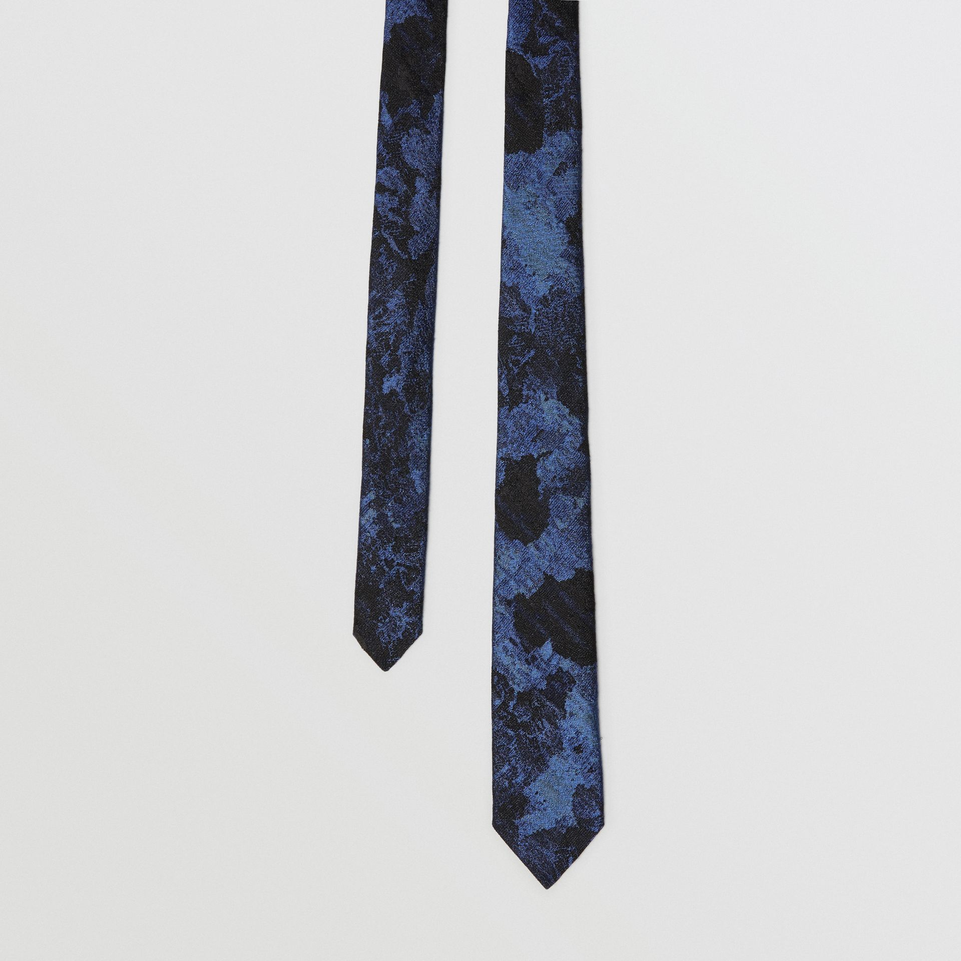 Slim Cut Dreamscape Wool Silk Jacquard Tie in Bright Navy - Men | Burberry United Kingdom - gallery image 0