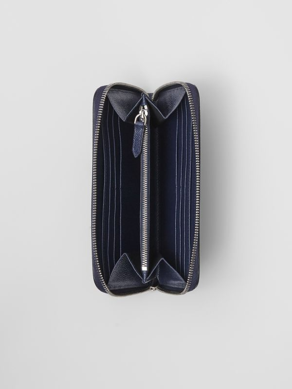 Grainy Leather Ziparound Wallet in Regency Blue - Men | Burberry - cell image 2