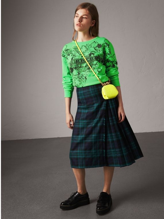 Tartan Wool Kilt in Pine Green