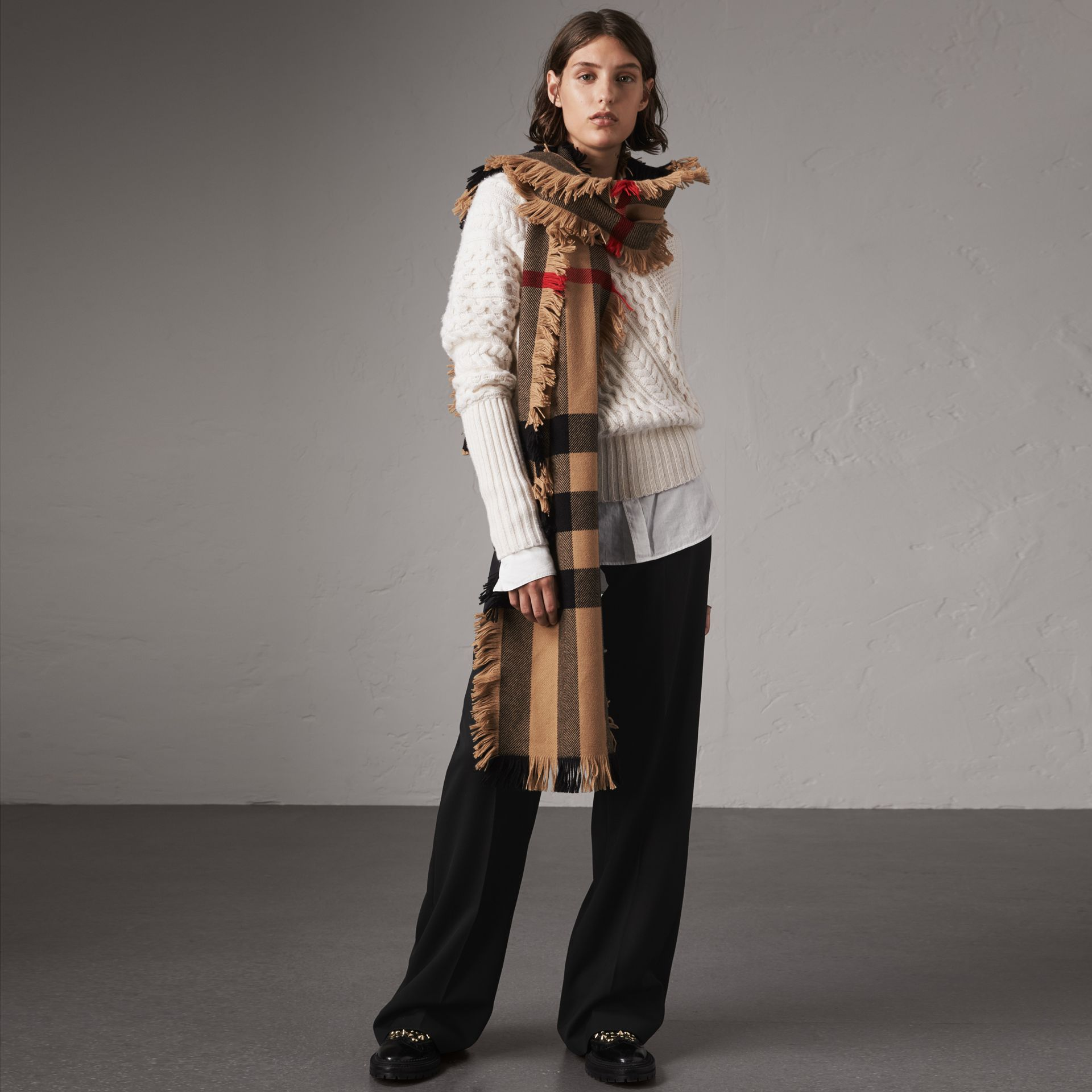 Wool Wide-leg Trousers in Black - Women | Burberry - gallery image 0