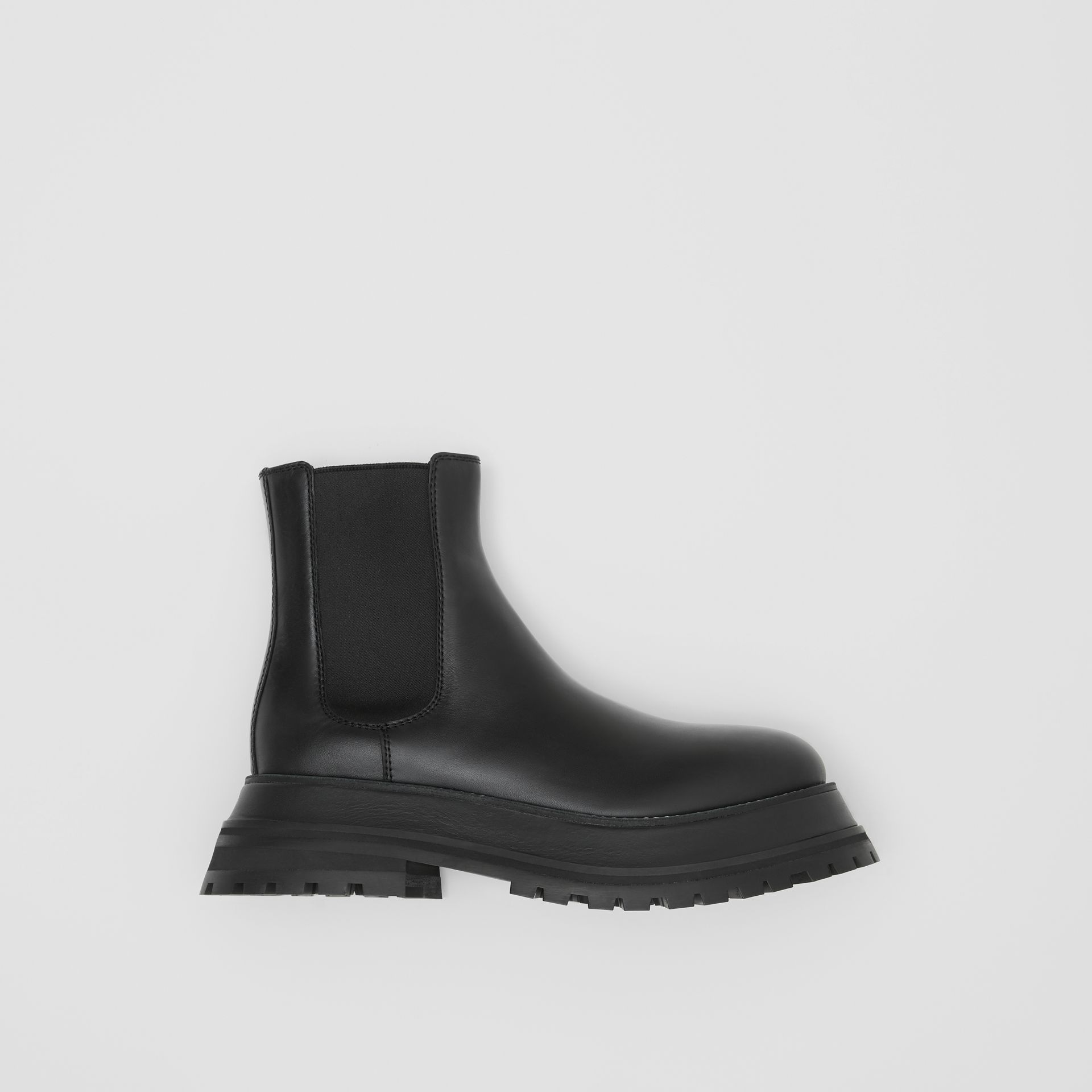 Leather Chelsea Boots in Black/black - Women | Burberry - gallery image 0