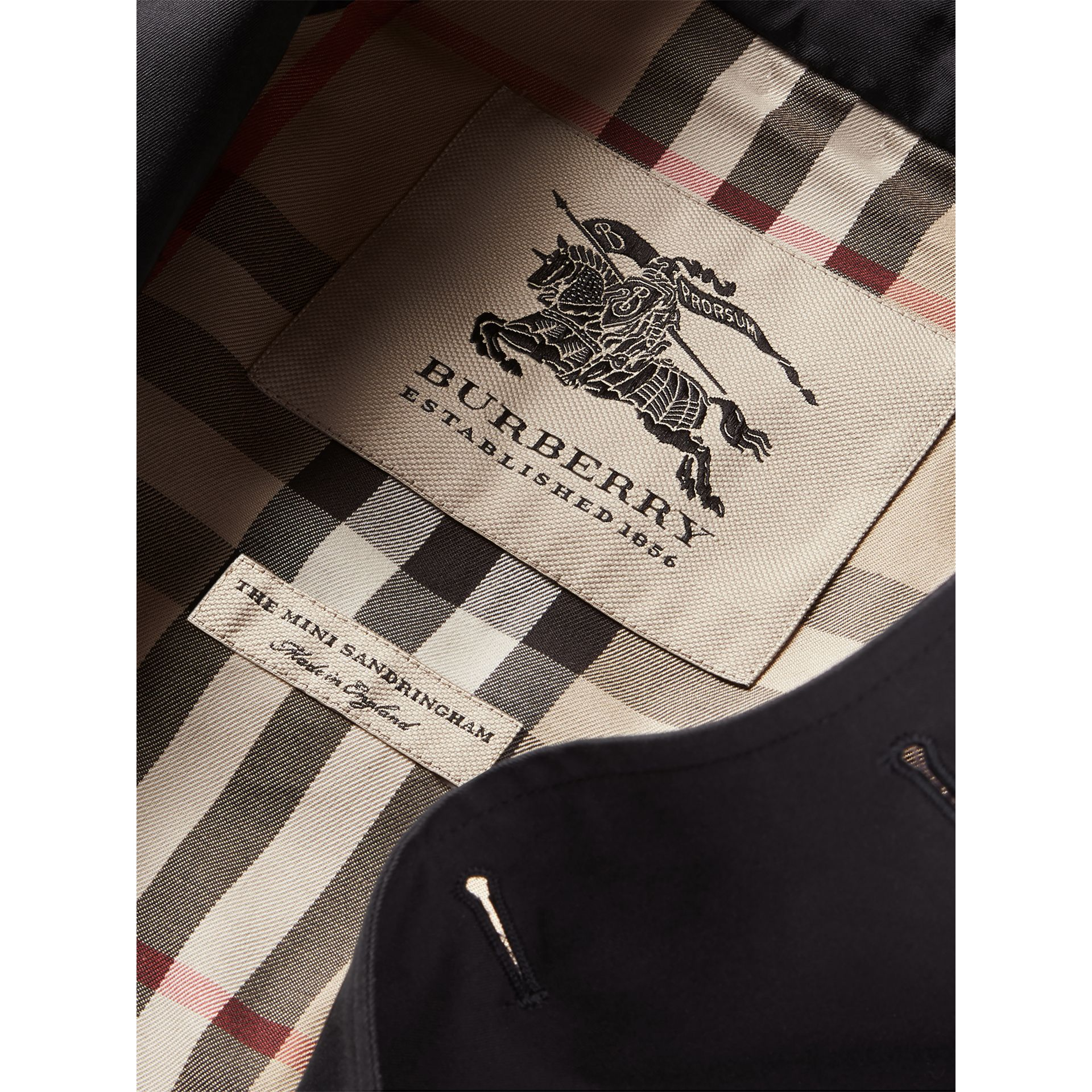 The Sandringham Trench Coat in Navy - Girl | Burberry Canada - gallery image 6