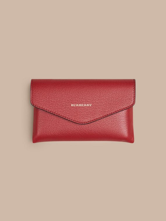 Wooden Domino Set with Grainy Leather Case in Parade Red | Burberry - cell image 2