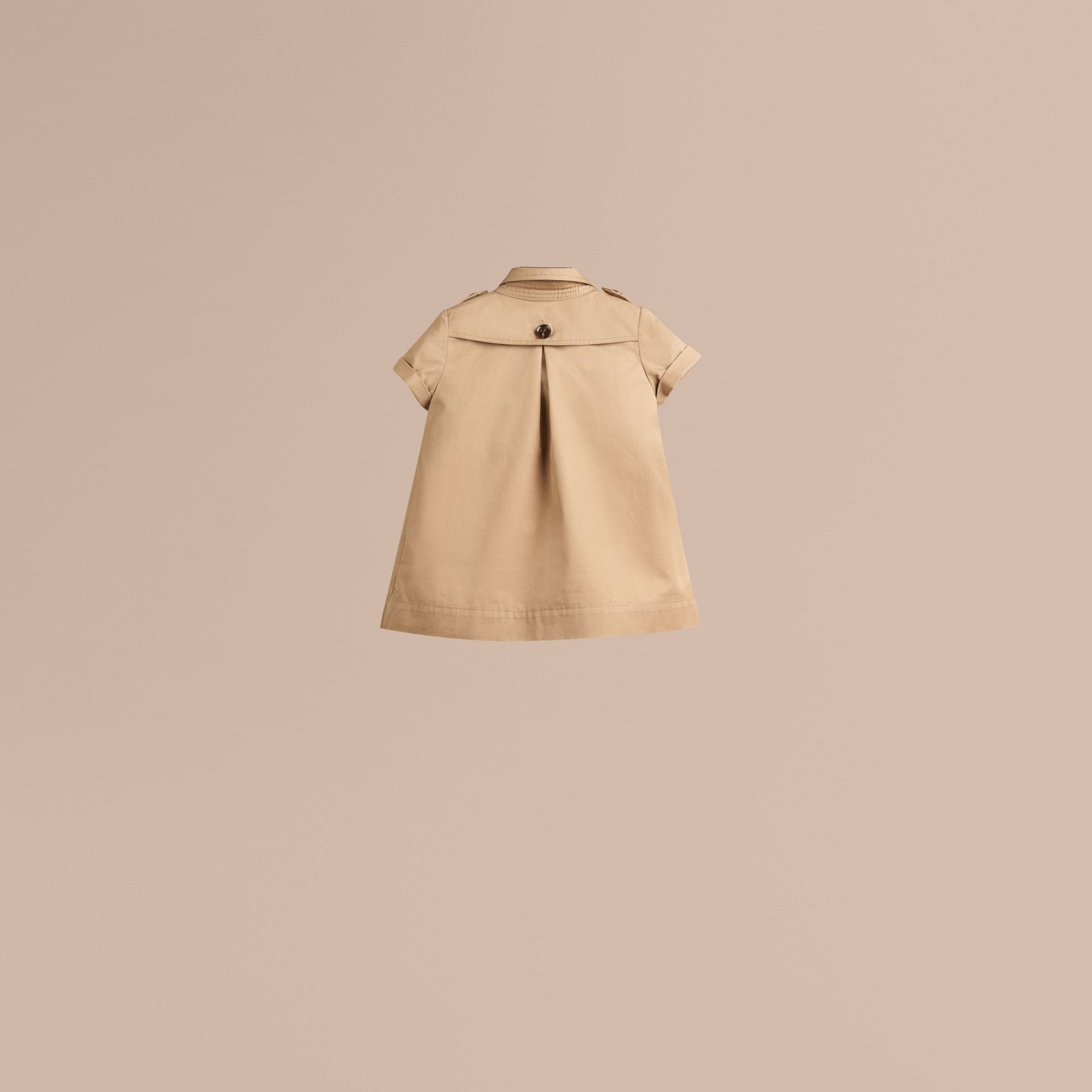 Cotton Trench Dress in Honey - gallery image 3