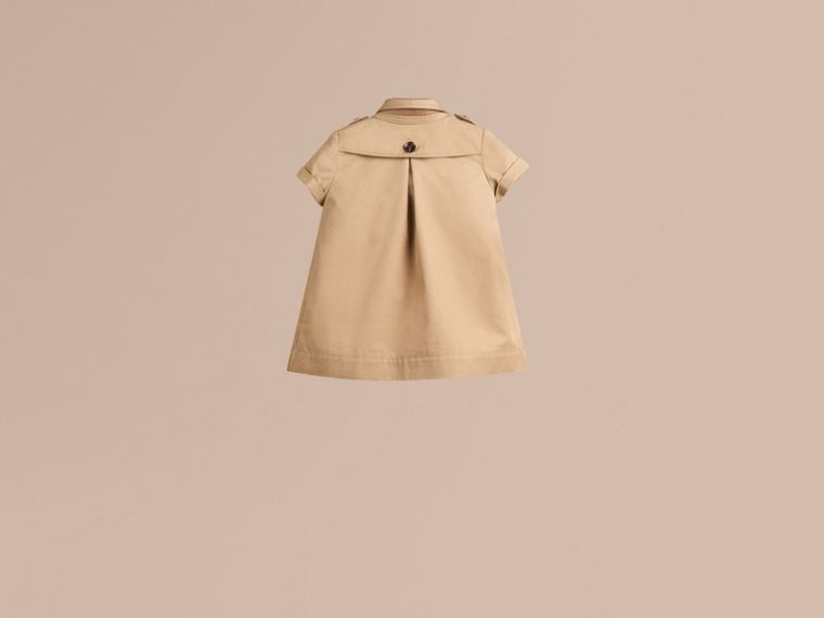 Cotton Trench Dress in Honey - cell image 2