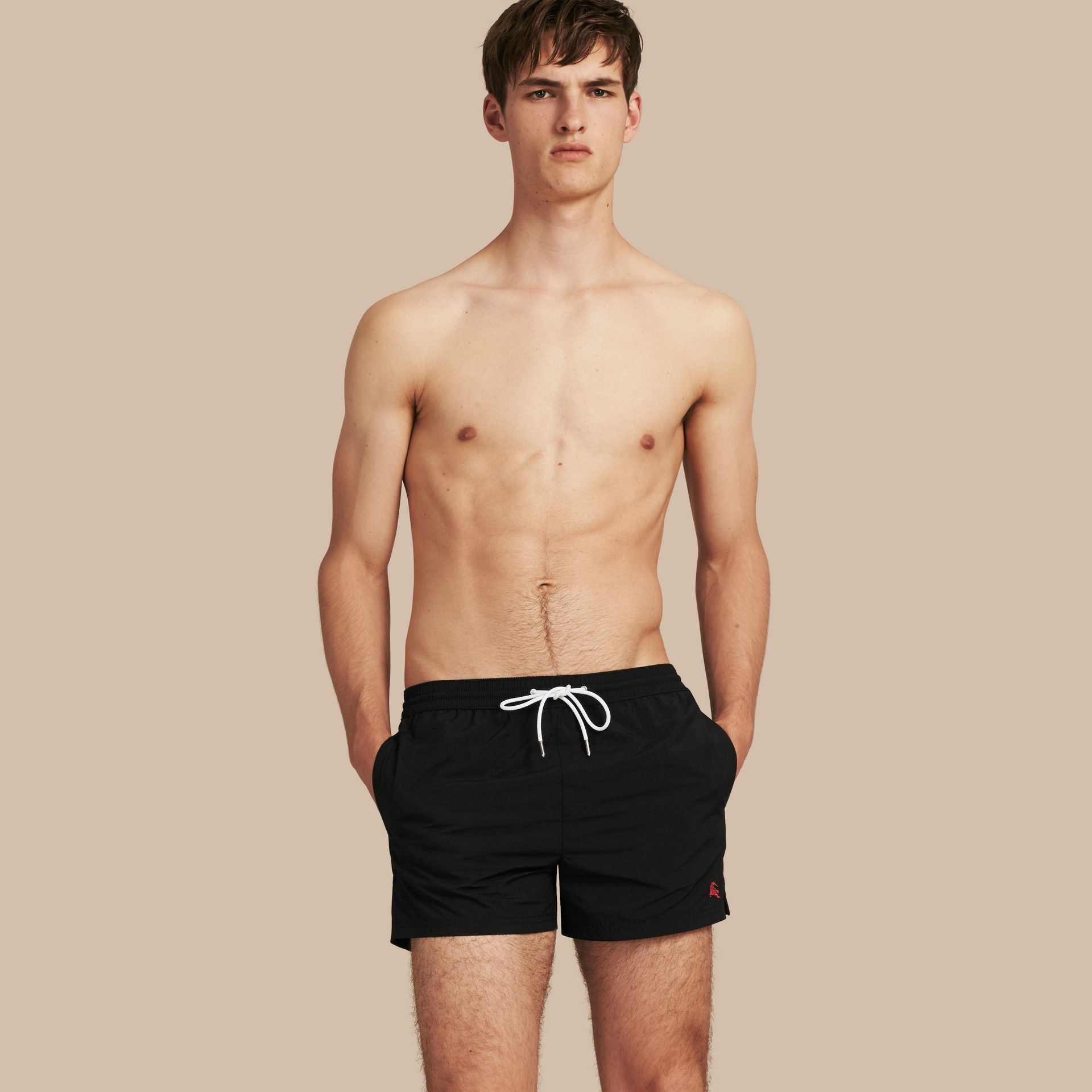 Black Lightweight Swim Shorts Black - gallery image 1