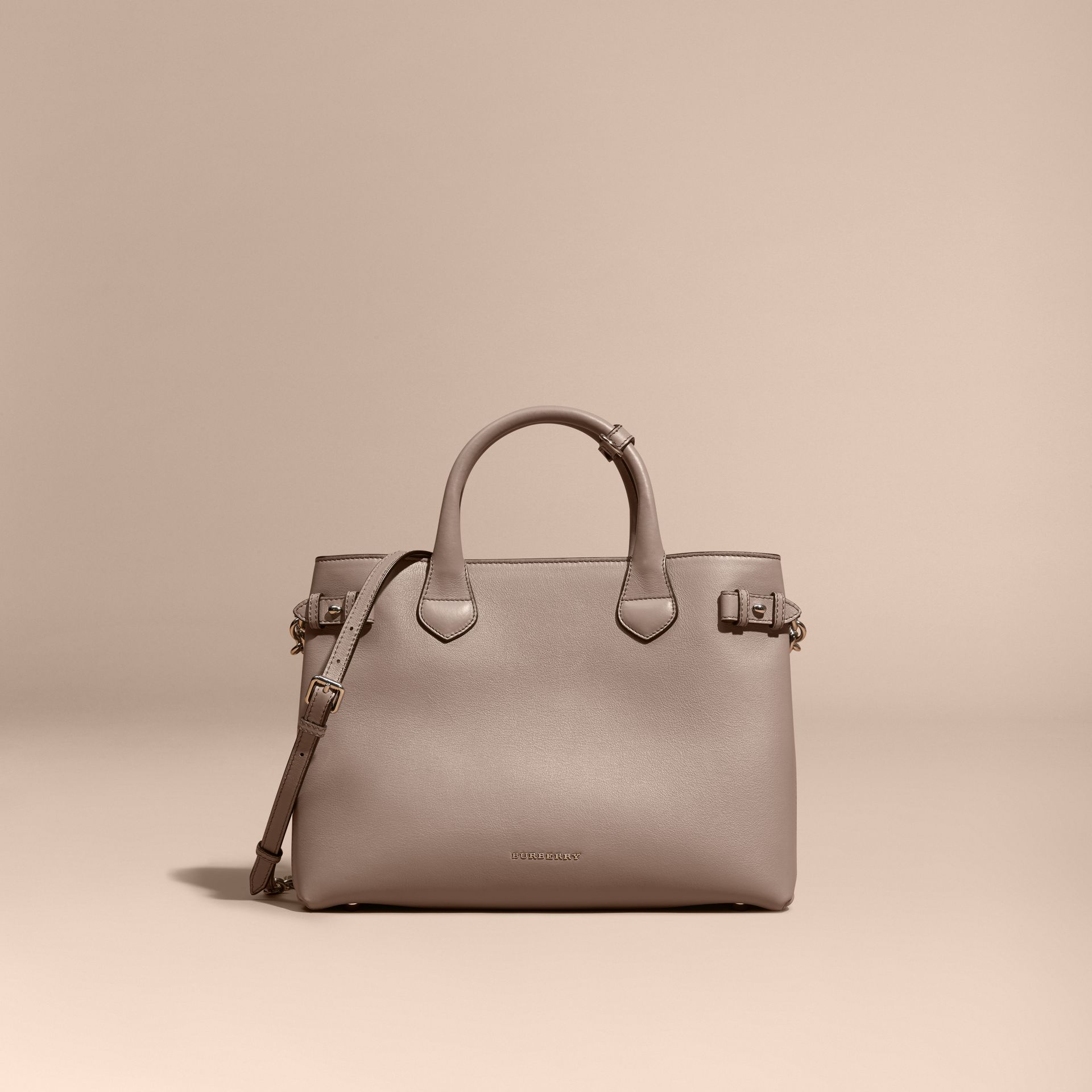 The Medium Banner in Leather with Chain Detail - Women | Burberry - gallery image 8