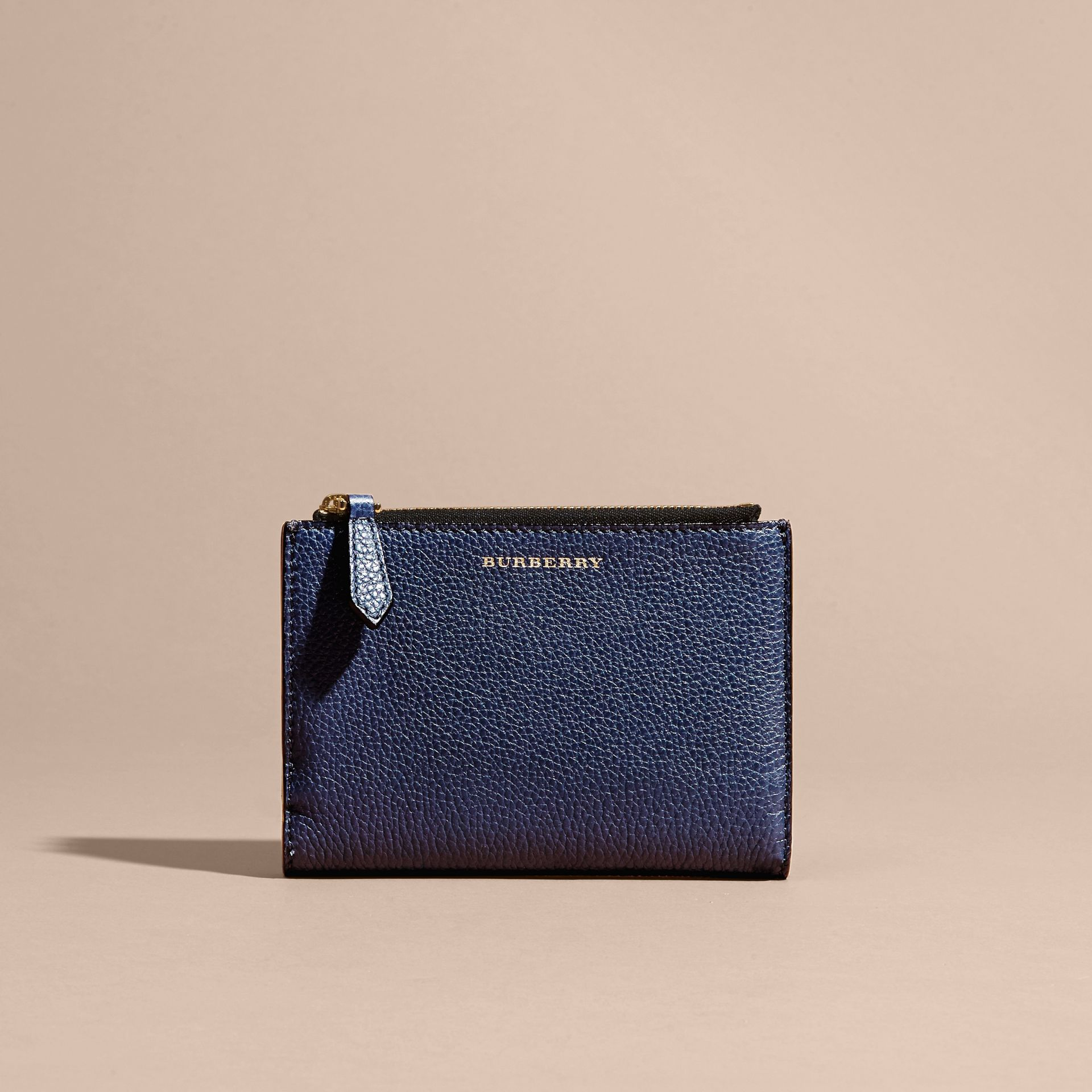 Leather Passport Wallet in Bright Navy | Burberry - gallery image 6