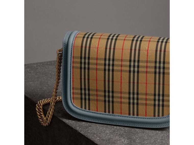 The 1983 Check Link Bag with Patent Trim in Blue Sage - Women | Burberry - cell image 4