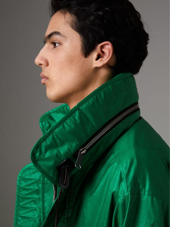 Packaway Hood Showerproof Jacket With Gilet in Vibrant Green - Men | Burberry - cell image 1