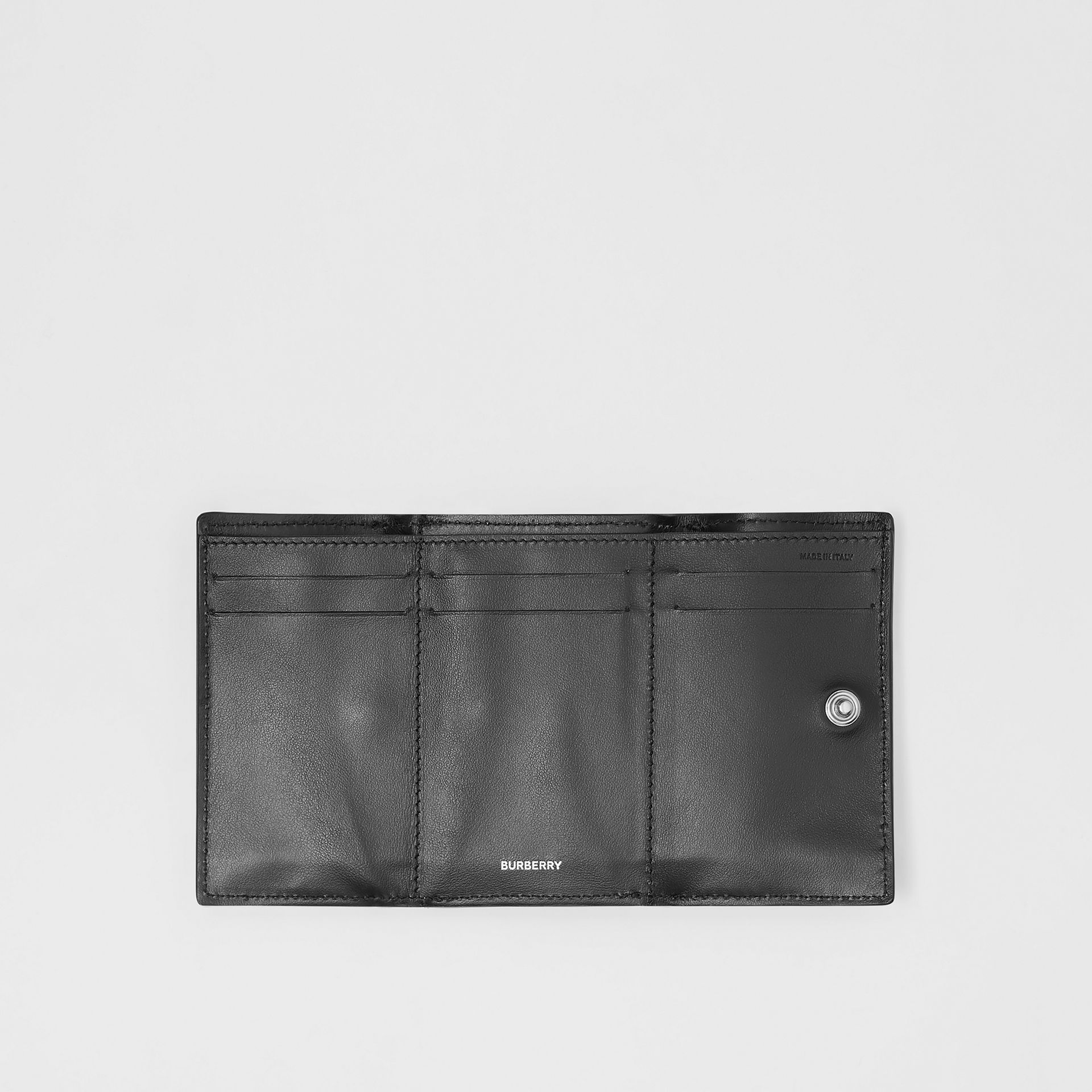 Small Vintage Check E-canvas Folding Wallet in Black - Women | Burberry Australia - gallery image 5