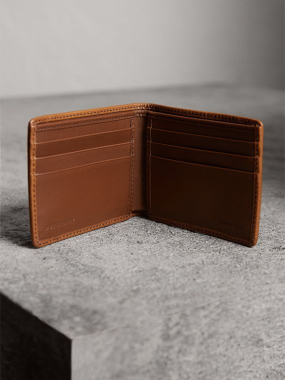 Horseferry Check Bifold Wallet in Tan - Men | Burberry United States - cell image 3