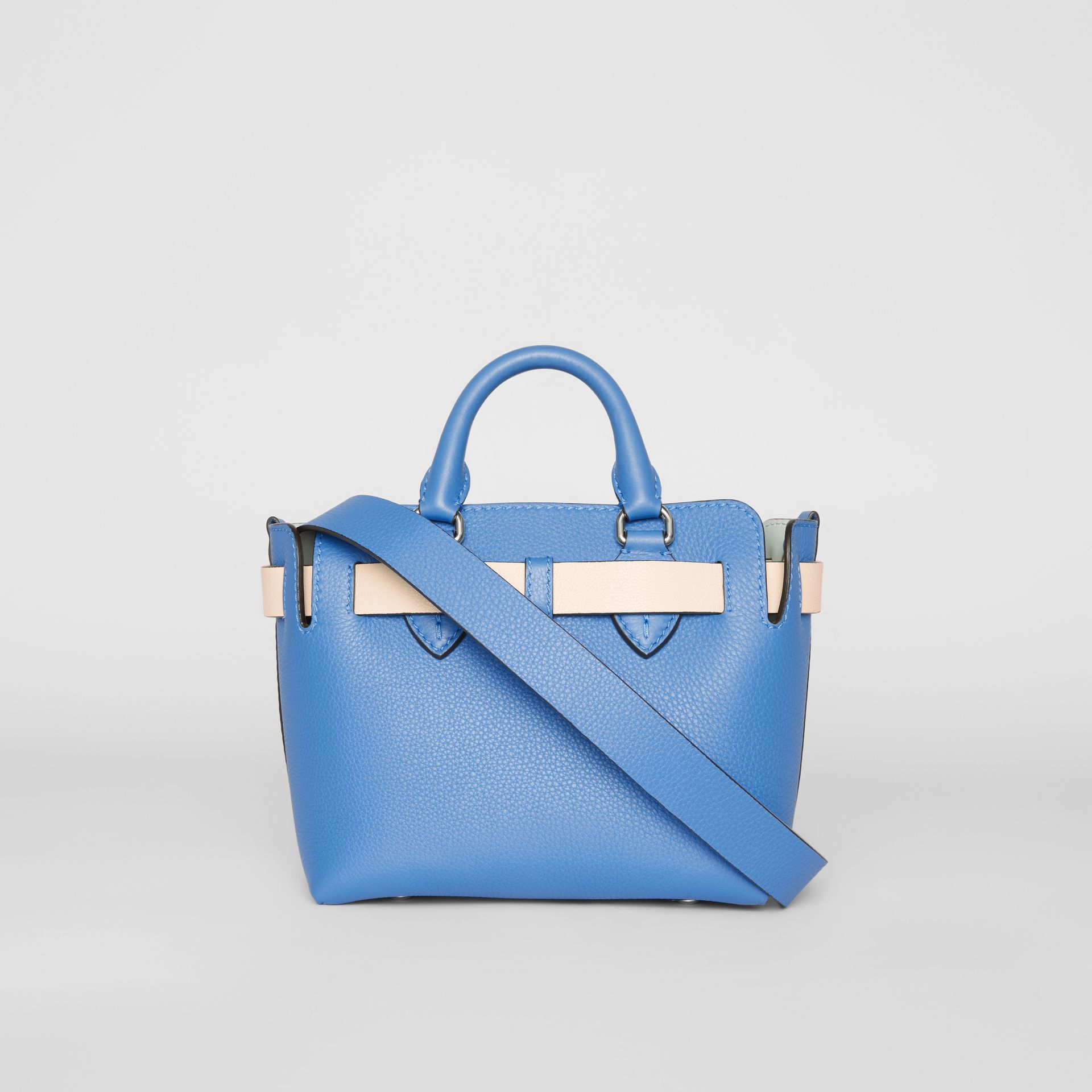 The Mini Leather Belt Bag in Hydrangea Blue - Women | Burberry - gallery image 7