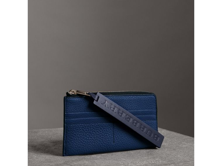 Grainy Leather Phone Case in Bright Ultramarine - Men | Burberry - cell image 4
