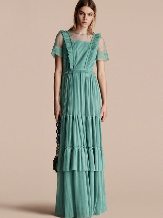 Ruffle Detail Floor-length Dress