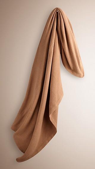 Rib Cashmere Blanket