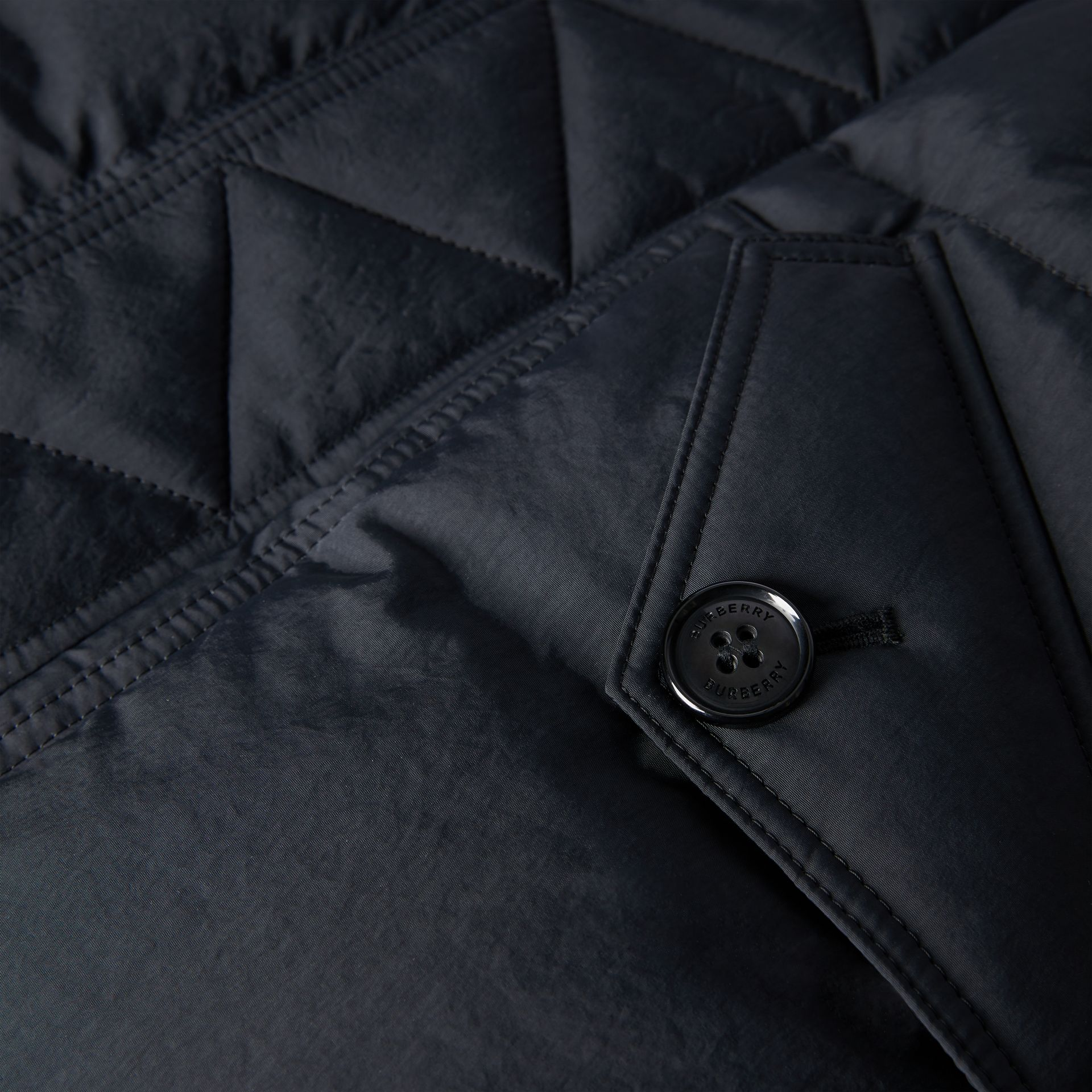 Detachable Hood Down-filled Puffer Coat in Black | Burberry Singapore - gallery image 1