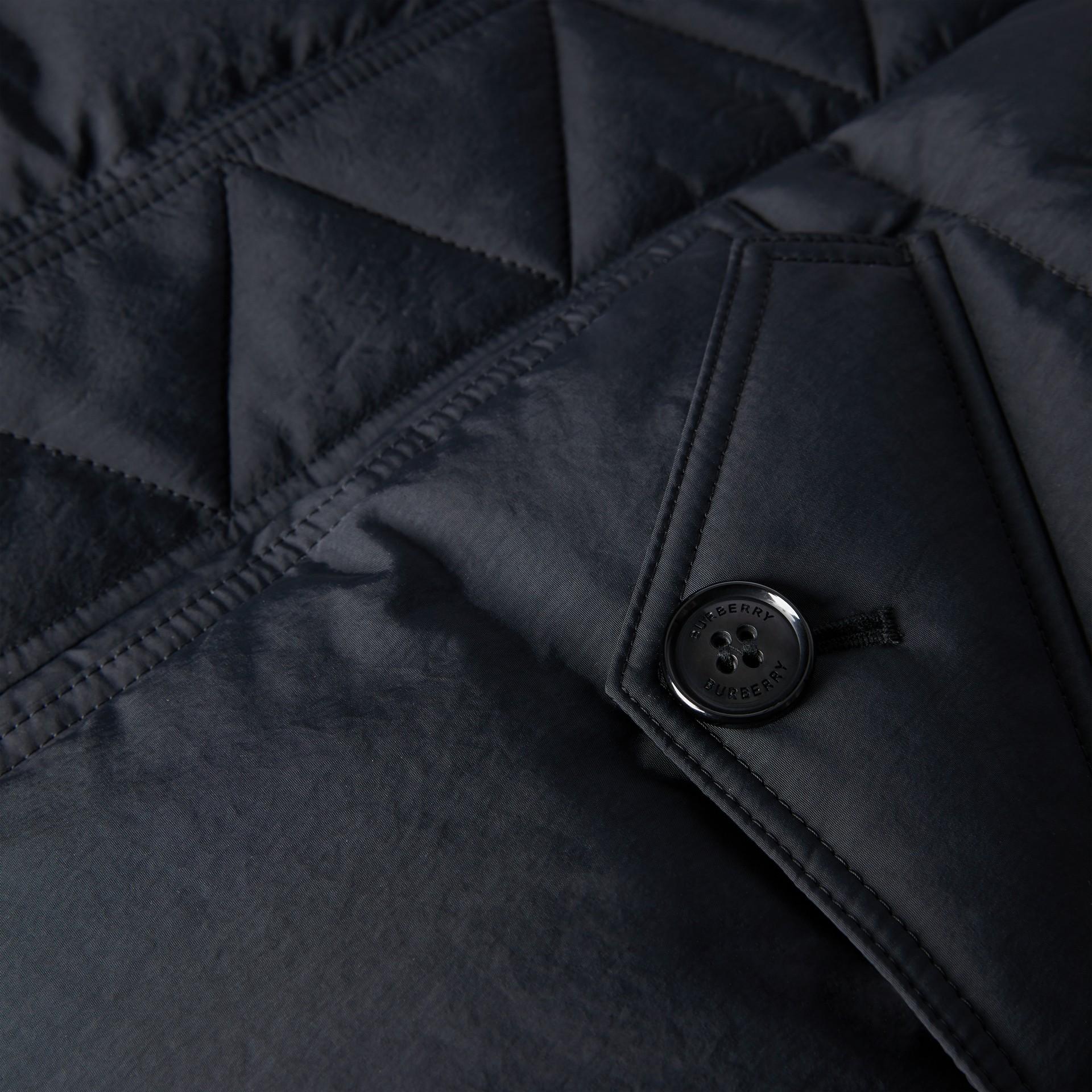 Пальто на пуху со съемным капюшоном (Черный) | Burberry - изображение 1