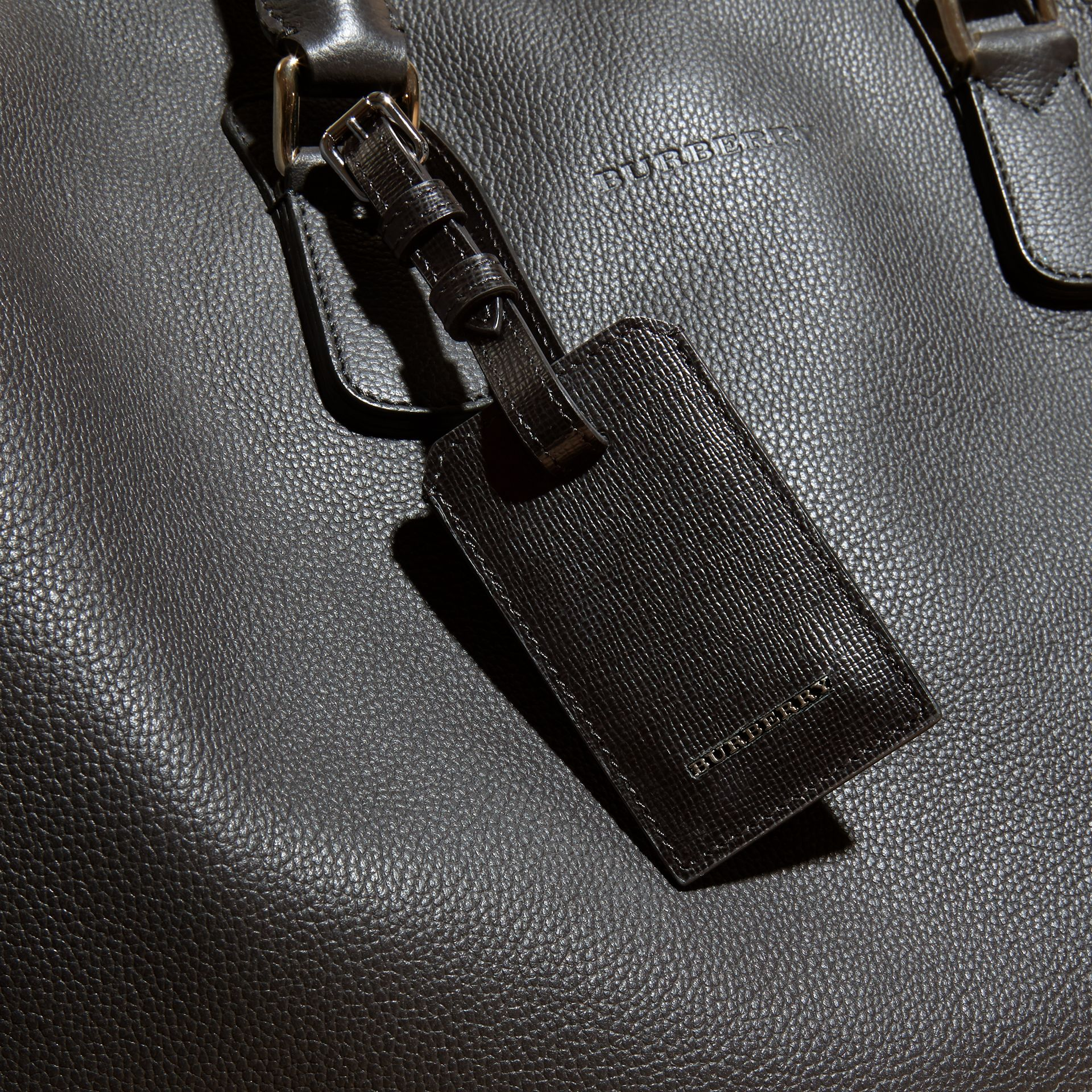 Black London Leather Luggage Tag Black - gallery image 4