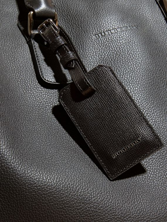 London Leather Luggage Tag in Black | Burberry - cell image 3
