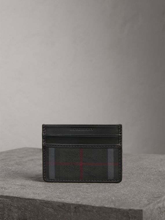 Horseferry Check Card Case in Charcoal/black - Men | Burberry Canada - cell image 3