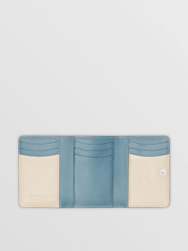 Small D-ring Leather Wallet in Stone - Women | Burberry - cell image 2
