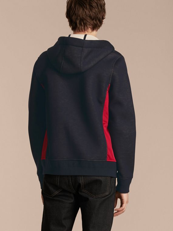 Two-tone Jersey Hooded Top Navy - cell image 2