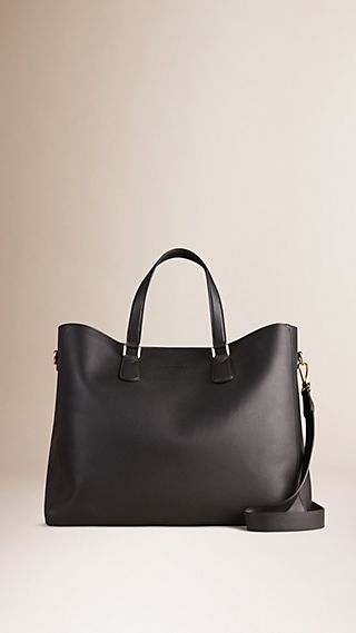 Grainy Leather Tote Bag