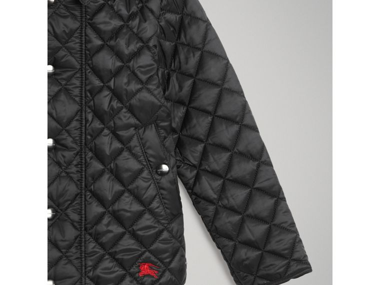 Lightweight Diamond Quilted Jacket in Black - Girl | Burberry - cell image 4