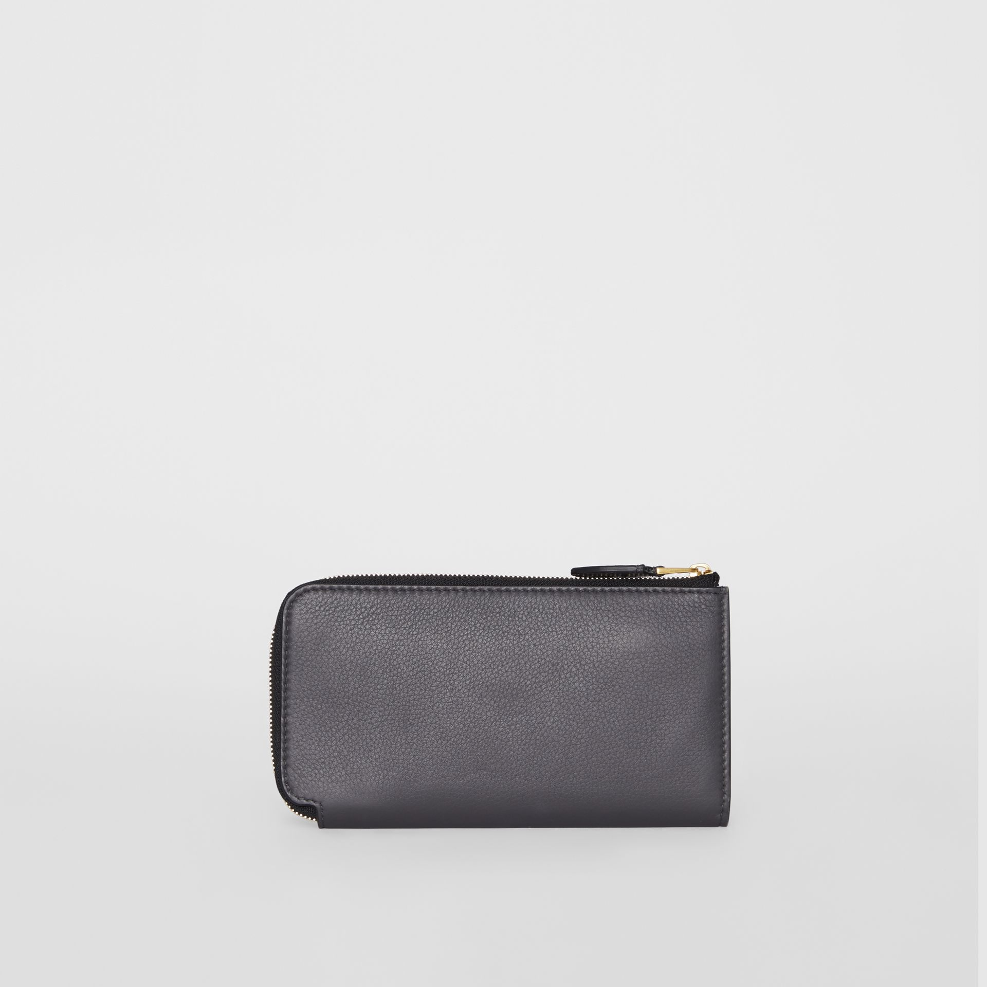 Two-tone Leather Ziparound Wallet and Coin Case in Charcoal Grey - Women | Burberry - gallery image 6