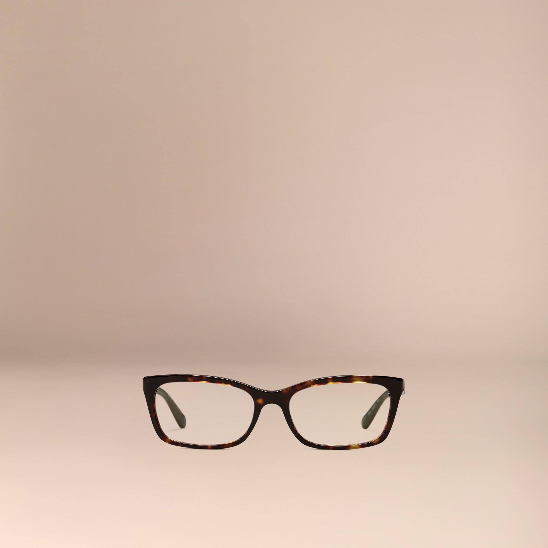 Check Detail Rectangular Optical Frames Tortoiseshell - gallery image 2