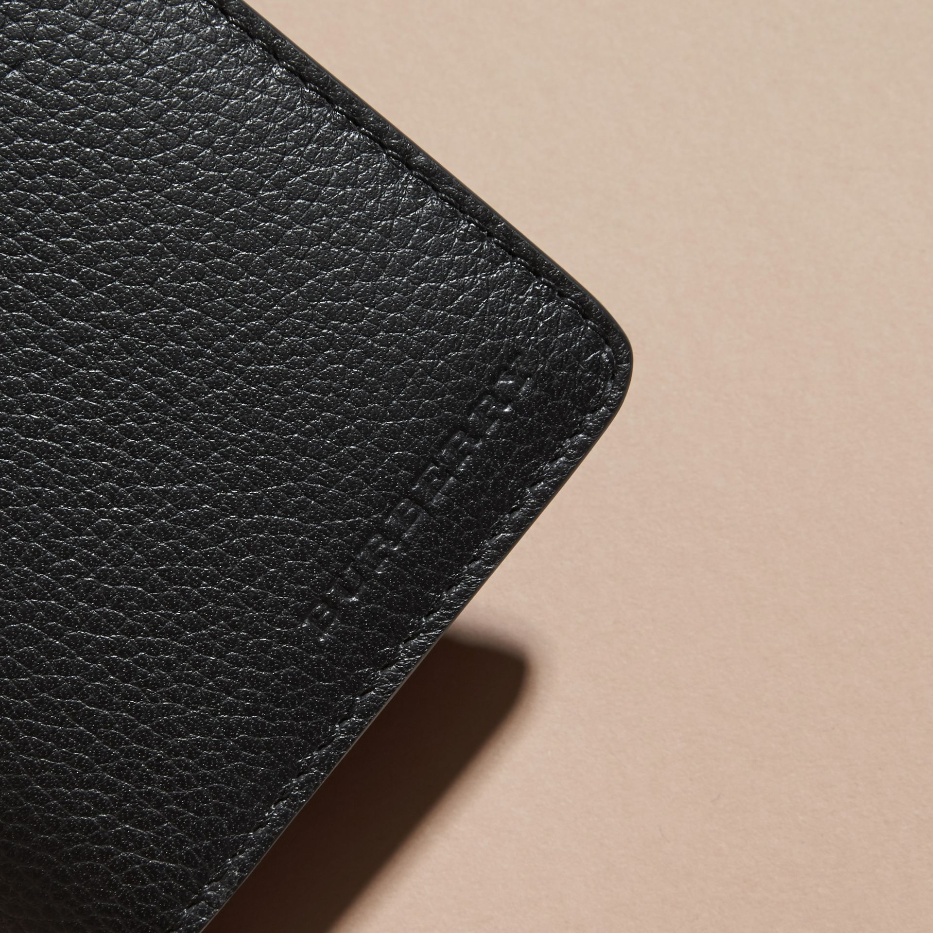 Black Grainy Leather Continental Wallet Black - gallery image 2