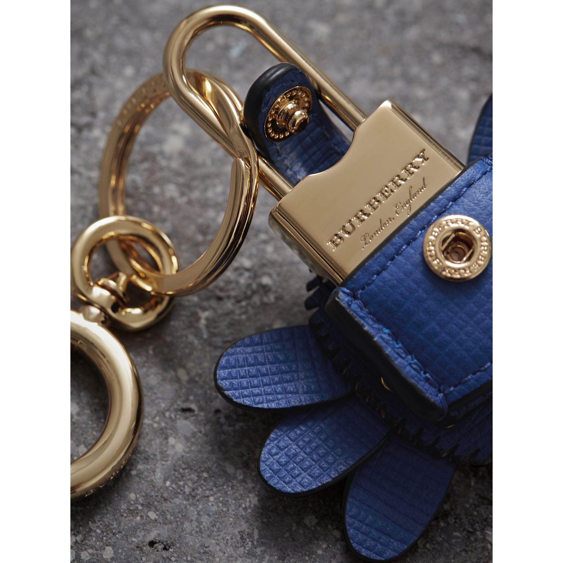 Beasts Leather Key Charm and Padlock in Cinnamon Red - Women | Burberry - gallery image 2