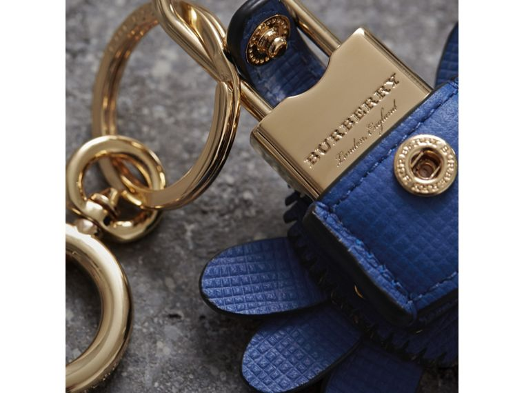 Beasts Leather Key Charm and Padlock in Cinnamon Red - Women | Burberry - cell image 1