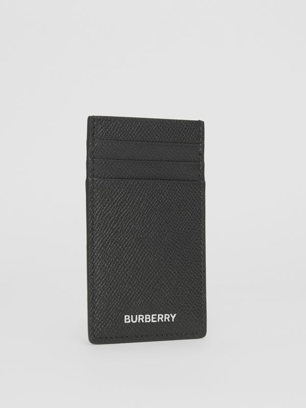 Grainy Leather Card Case in Black - Men | Burberry - cell image 2
