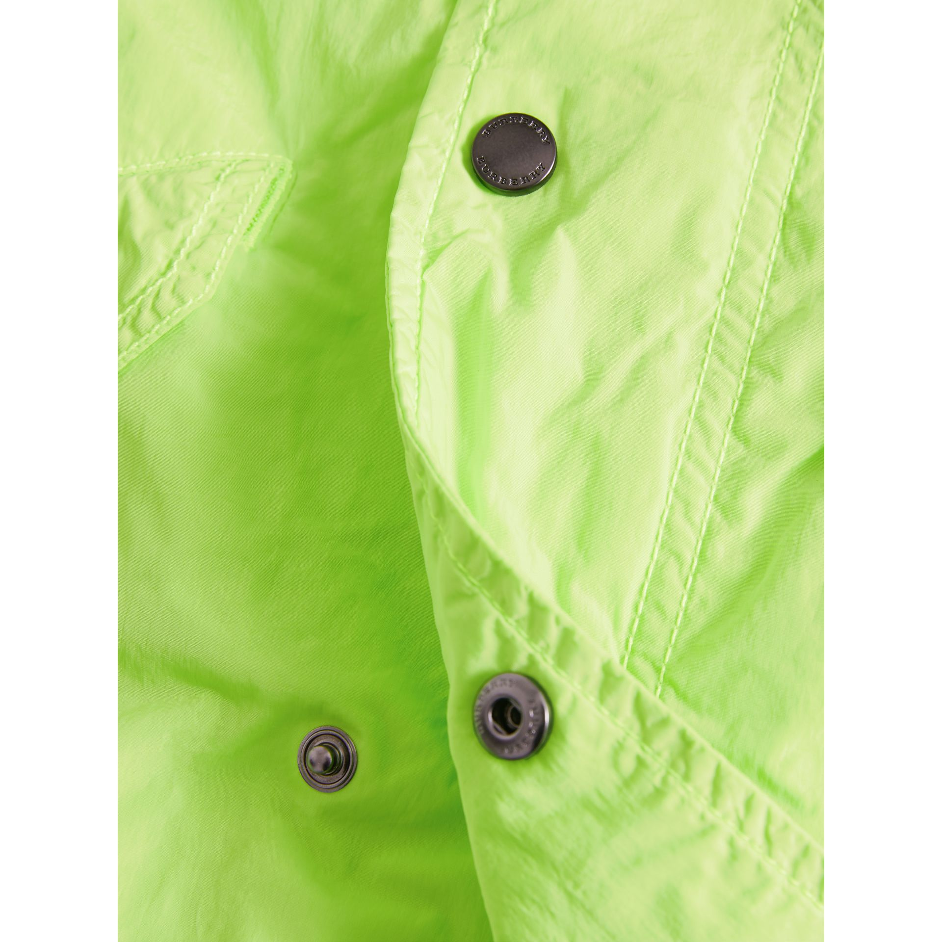 Detachable Hood Lightweight Parka Coat in Neon Yellow - Boy | Burberry - gallery image 1