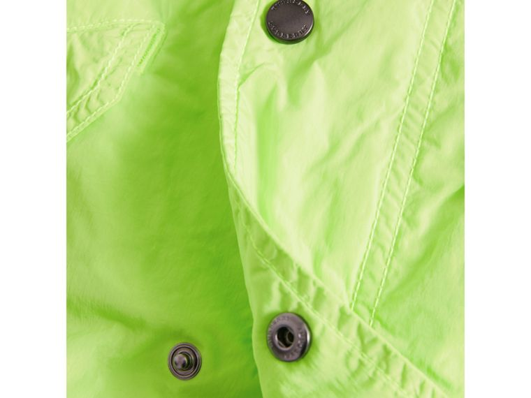Detachable Hood Lightweight Parka Coat in Neon Yellow - Boy | Burberry - cell image 1